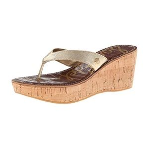 Sam Edelman Romy Platform Sandals w/ Gold Strap